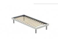letto Sommier singolo con giroletto con piedini in legno o in alluminio
