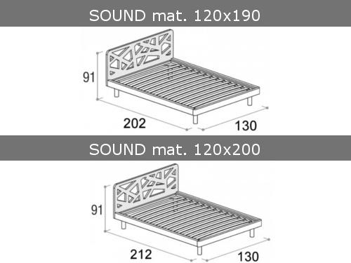 Misure del letto piazza e mezza Doimo Cityline modello Sound