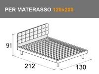 Letto Doimo Cityline Tender con rete a doghe per materasso da 120x200cm