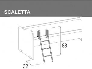 scaletta per letto superiore