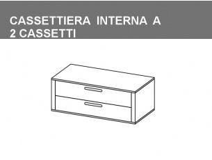 cassettiera interna a 2 cassetti
