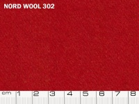 Tessuto Nord Wool colore 302 Ribbon Red, 70% lana, 30% poliestere. Colore Pantone 19-1663