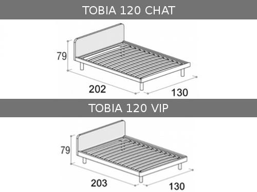 Dimensioni del letto piazza e mezza Tobia