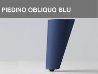 Piedino obliquo Blu h 11 cm
