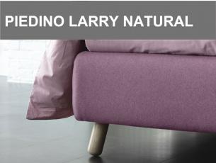Piedino obliquo in legno Larry altezza 15cm in finitura Natural