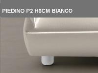 Piedino P2 H6cm Bianco