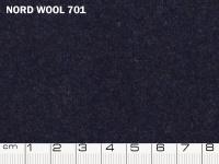 Tessuto Nord Wool colore 701 Dark Denim, 70% lana, 30% poliestere. Colore Pantone 19-4118