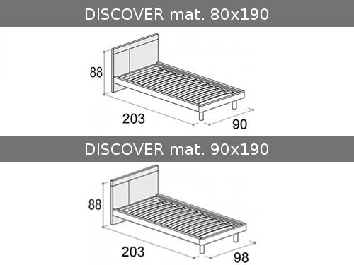 Dimensioni del letto singolo Discover
