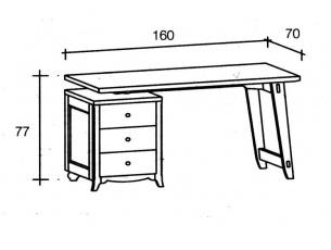 misure scrivania