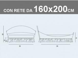 Misure del letto matrimoniale imbottito Noctis Lullaby Chic con rete a doghe da 160x200cm