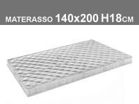 materasso 140x200 h.18cm in poliuretano espanso con rivestimento trapuntato