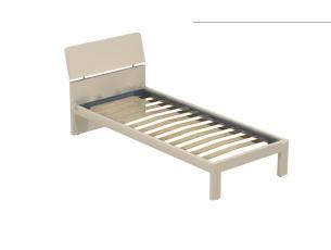 Letto singolo Pinco con giroletto Bit e piedino dritto in legno