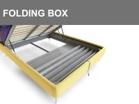 Contenitore con sistema brevettato Folding Box per poter pulire comodamente sotto al letto