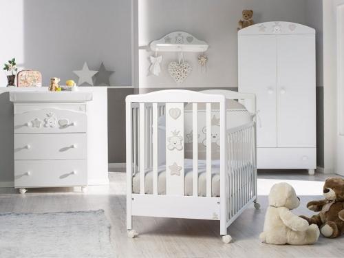 Cameretta Baby Re con lettino armadio e fasciatoio