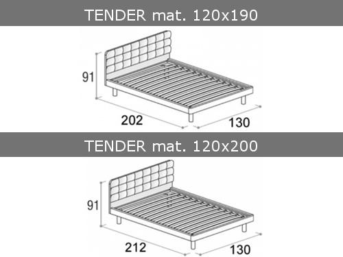 Misure del letto Tender da una piazza e mezza