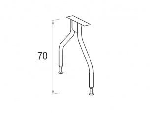 Gambe in metallo per scrivania