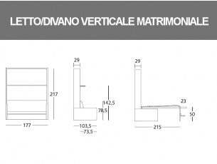 Misure del Dile matrimoniale verticale