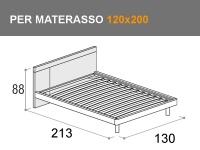 Letto piazza e mezza Doimo Cityline Discover per materasso da 120x200cm
