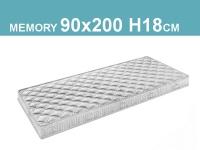 Materasso singolo in memory foam interamente sfoderabile con fodera in tessuto con trattamento antibatterico e antistatico 90x200cm H18cm