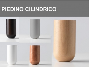 Piedino Cilindrico H.11cm