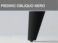 Piedino obliquo Nero h 11 cm