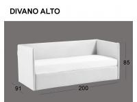 Divanetto imbottito Space in versione divano alto
