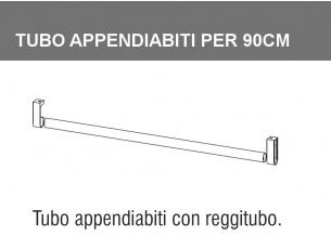 tubo appendiabiti per armadio da 90cm