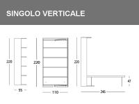 Misure del Singolo girevole verticale