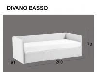 Divanetto imbottito Space in versione divano basso