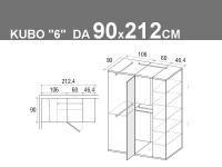 Kubo 6 da 90x212.4cm
