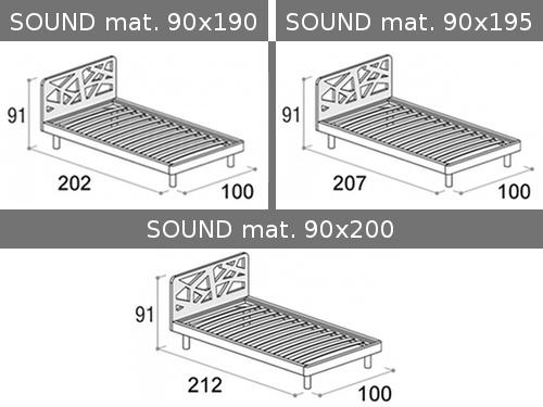 Dimensioni esterne del letto singolo Doimo Cityline Sound