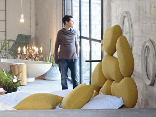 Testata del letto imbottito Noctis Stones in tessuto Manhattan 804