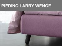 Piedino obliquo in legno Larry altezza 15cm in finitura Wengè