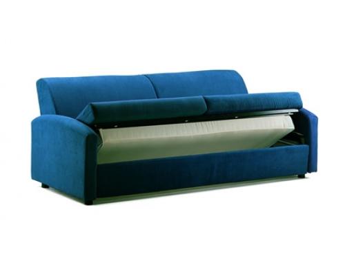 Divano a 3 posti che si trasforma in un letto singolo, modello Oplà