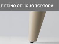 Piedino obliquo Tortora h 11 cm