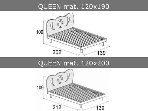 Misure del letto da una piazza e mezza modello Queen di Doimo Cityline