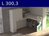 Castelponte angolare Largh cm 300,3 con colonna da 47,3 mm3003x2580x2090