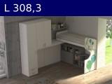 Castelponte angolare Largh cm 308,3 con colonna da 55,3 mm3083x2580x2090