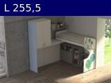 Castelponte angolare Largh cm 255,5mm2555x2580x2090