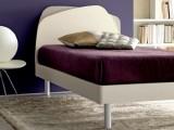 Letto singolo Doimo CityLine modello Krono con rete a doghe e testata doppia personalizzabile con 2 colori per dare alla tua stanza un effetto unico