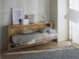Letto singolo a ribalta orizzontale in vero legno massello,modello Van di Scandola disponibile in 2 profondità, sempre compreso di rete a doghe
