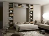 Letto Vertigo matrimoniale a ribalta verticale, quello che sembra un armadio a 4 ante si trasforma in un letto matrimoniale con un materasso alto ben 20cm