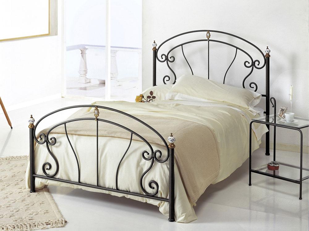 letto piazza e mezza in ferro battuto