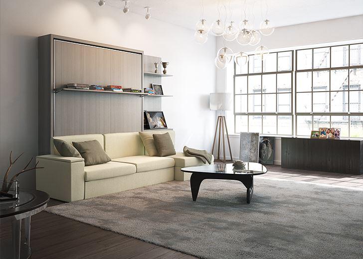 arredamento con letto dile matrimoniale con divano